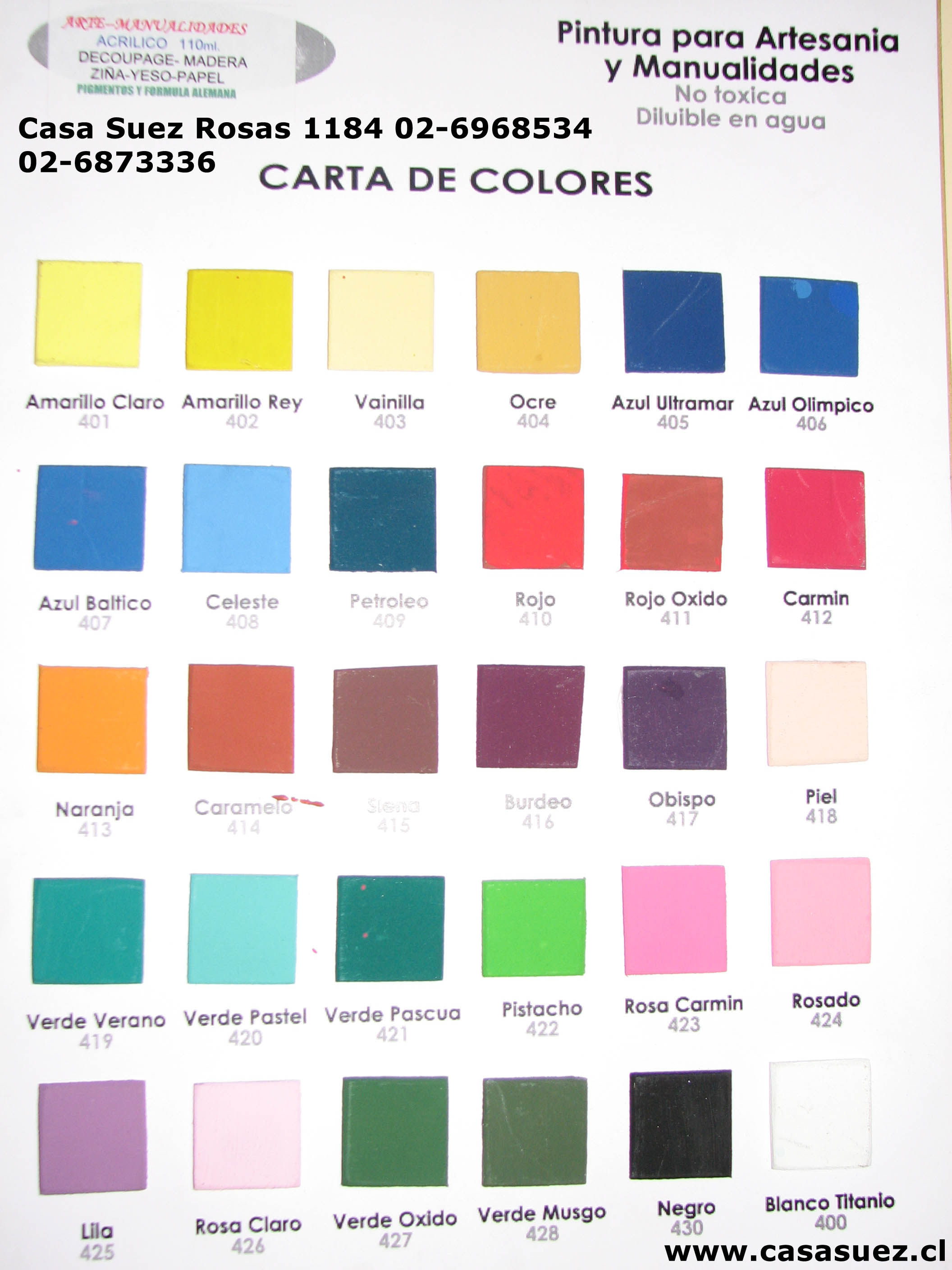 Pinturas carta de colores imagui - Pinturas de color ...