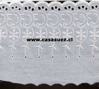 Broderie TB-0076 16cms. Ancho Pza: 13.80mts